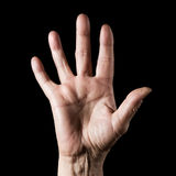 Ältere Hand Stockbild