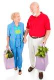 Ältere Käufer - auswechselbare Betriebsmittel Stockfotos