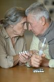Ältere kaukasische Paare Stockfotos