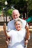 Ältere lebenslustige Typen lizenzfreie stockfotos
