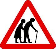 Ältere Menschen Zeichen stock abbildung