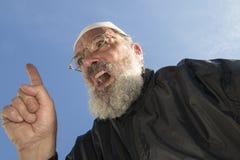 Ältere Moslems mit dem angehobenen Finger stockbilder