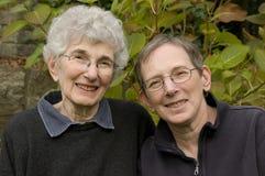 Ältere Mutter und Tochter Lizenzfreie Stockfotografie