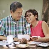 Ältere Paar-Freizeit außerhalb des Konzeptes Lizenzfreies Stockbild
