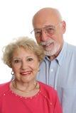 Ältere Paar-zusammen Vertikale Stockbild