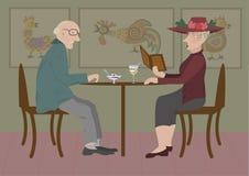 Ältere Paare vektor abbildung