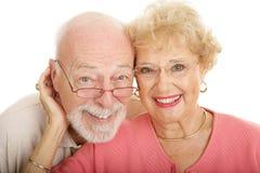 Ältere Paare in den Gläsern Lizenzfreie Stockbilder