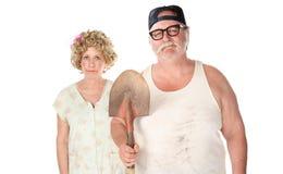 Ältere Paare in der klassischen Haltung. Stockfotos