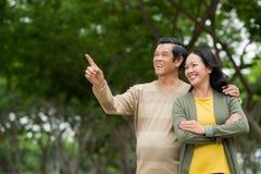 Ältere Paare in der Liebe lizenzfreie stockfotos
