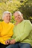 Ältere Paare in der Liebe Stockbild
