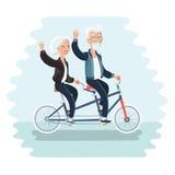 Ältere Paare, die Fahrrad fahren Lizenzfreies Stockbild