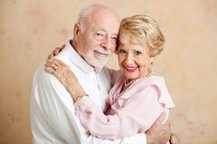 Ältere Paare - liebevolles Porträt Stockbild