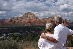 Ältere Paare in Sedona Stockfotografie