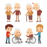Ältere Paare Seniorpaare Stockbilder
