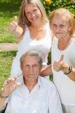 Ältere Paare und ihre Tochter Stockfotografie