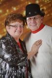 Ältere Paare am Weihnachten Lizenzfreies Stockfoto