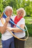 Ältere Paare zusammen in einem Band Lizenzfreies Stockfoto