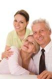 Ältere Personen mit einer Tochter lizenzfreies stockbild