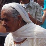 Ältere Sikhfrau an Vaisakhi-Feier Lizenzfreies Stockfoto