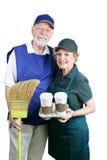 Ältere unterstützen bei der Arbeit Lizenzfreies Stockfoto