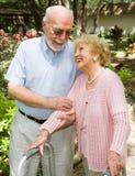 Ältere - Vertrauen und Liebe Stockbild