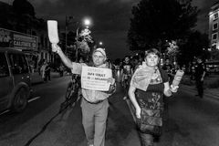 Ältere Vorführer - Rosia Montana Protests Lizenzfreies Stockfoto