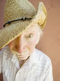 Älterer Bürger-Mann in einem Cowboyhut Lizenzfreies Stockbild