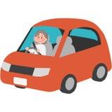 Älterer Fahrer Stockbild