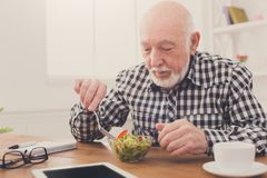Älterer Fleisch fressender neuer Salatkopienraum stockbild