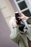 Älterer Fotograf Stockfotos