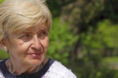 Älterer Frauenausdruck Stockfoto