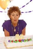 Älterer Geburtstag-Kuchen Lizenzfreies Stockbild