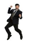 Älterer Geschäftsmann Celebrating Stockfotos