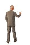 Älterer Geschäftsmann, der Darstellung gibt Stockfoto