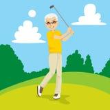 Älterer Golfspieler Stockfoto