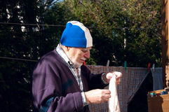 Älterer Heimarbeiter Stockfotografie