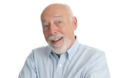 Älterer Mann - überrascht Stockfotografie