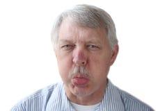 Älterer Mann bildet einen Bronx-Beifall lizenzfreies stockfoto