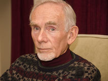 Älterer Mann in der durchdachten Stimmung Lizenzfreies Stockbild
