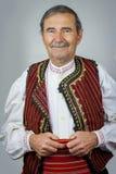 Älterer Mann in der traditionellen Kleidung von Mazedonien Lizenzfreies Stockbild