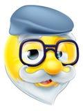 Älterer Mann Emoji-Emoticon Stockfoto