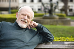 Älterer Mann im Park Lizenzfreie Stockfotos