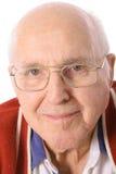 Älterer Mann mit Gläser headshot Lizenzfreies Stockfoto