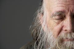 Älterer Mann mit langem Bart Stockbild