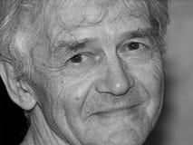 Älterer Mann, Schwarzweiss Stockfoto
