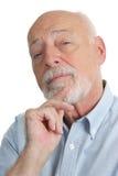 Älterer Mann - skeptisch Lizenzfreie Stockfotos