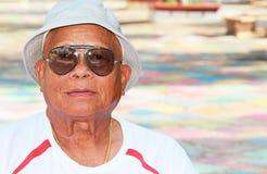 Älterer Mann-Sonnenbrille stockbilder