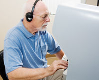 Älterer Mann-Stimmen Stockfotos