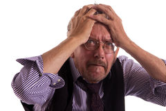 Älterer Mann verrückt stockfoto