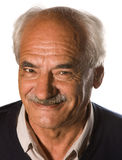 Älterer mit dem Schnurrbart Stockfotografie